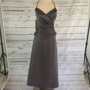 ALFRED ANGELO, NWT! Silver formal dress